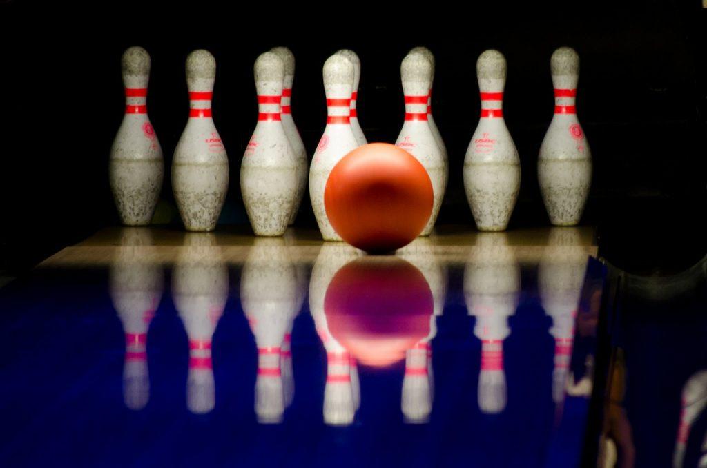 bowling, pins, ball